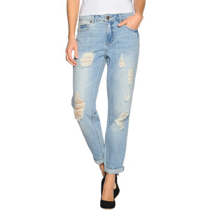Vila Crime 7/8 Boyfriend Jeans Damen 27 light blue denim