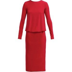 Norma Kamali Jerseykleid red