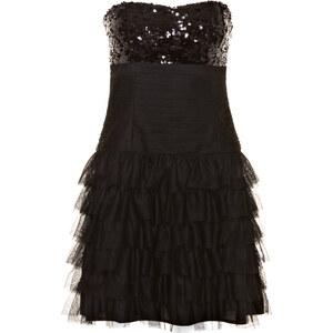 Vera Mont Bandeau Kleid mit Paillettenbesatz schwarz