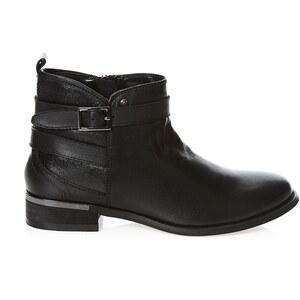 Elle Boots en cuir - noir