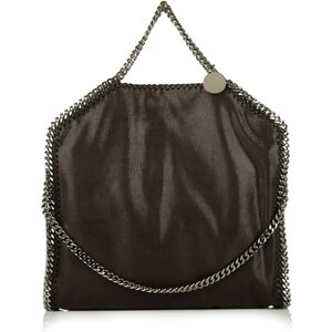 Stella McCartney Falabella Shaggy Deer Fold Over Tote Brown Handtasche
