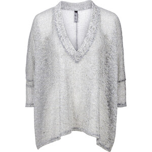 RAINBOW Pullover 3/4 Arm in grau für Damen von bonprix