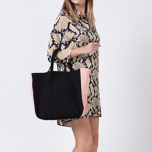 Lesara Shopping-Bag im zweifarbigen Design