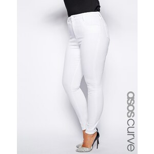 ASOS CURVE Ridley Skinny Jean In White