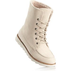 bpc bonprix collection Boots à lacets beige chaussures & accessoires - bonprix
