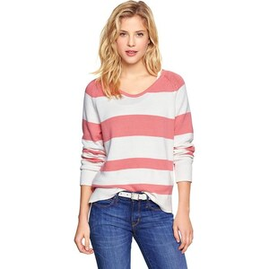 Gap Wide Stripe Sweater - Coral stripe