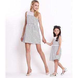Lesara Kinder-Kleid mit halbtransparenten Kragen - 146