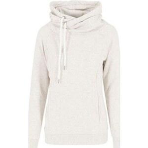 Urban classics Sweat-shirt Sweat Capuche Croisée Blanc Cassé
