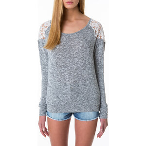 Tally Weijl Grey Floral Lace Back Jumper