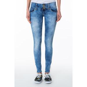 Tally Weijl Helle Jeans mit Waschung und breiten Gürtelschlaufen