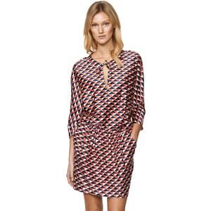 Gant Bedrucktes Kleid aus Baumwolle und Seide
