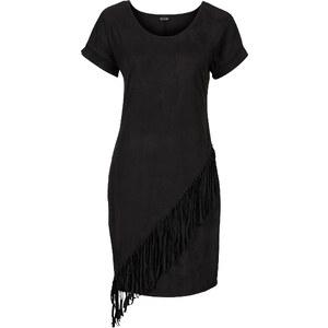 BODYFLIRT Robe à franges noir femme - bonprix