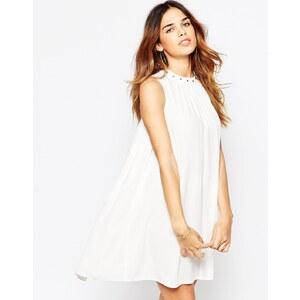 ASOS - Ausgestelltes Sommerkleid mit Ösenverzierung - Terracotta 13,99 €
