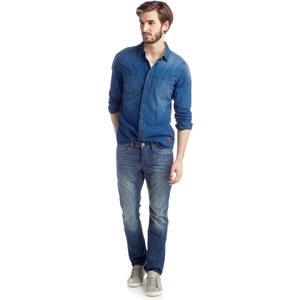 Esprit Denim-Hemd mit Leinen