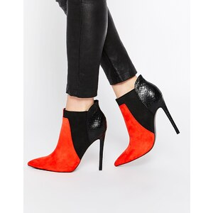ASOS - ENVIOUS OF YOU - Spitze Chelsea-Ankle-Boots - Rot gemischt