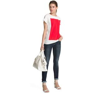 Esprit Seidige Colour-Blocking Shirt-Bluse