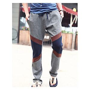 LightInTheBox Men's Contrast Color Splicing Sweatpants(without Belt)