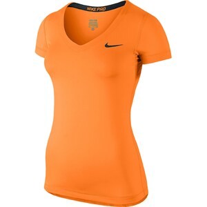 Nike NIKE PRO SS V-NECK - T-shirt - orange