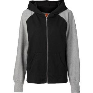 RAINBOW Gilet sweat-shirt noir femme - bonprix