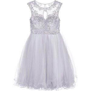 Luxuar Fashion Cocktailkleid / festliches Kleid silbergrau