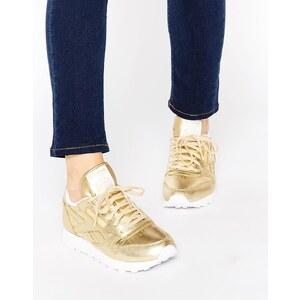 Reebok - Spirit - Klassische Ledersneakers in Gold - Gold