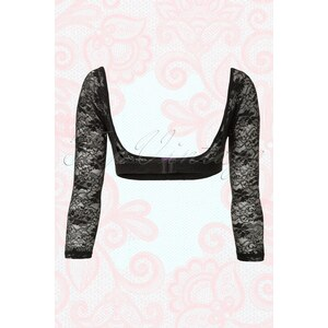 Canopi Long Black Vintage Lace Sleeves