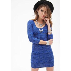 FOREVER21 Bodycon-Kleid mit abstraktem Print
