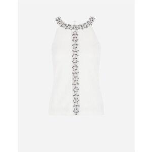 Morgan de toi ! Top glamour avec perles et strass