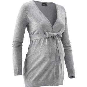 bpc bonprix collection Gilet de grossesse en maille gris manches longues femme - bonprix