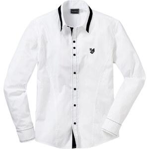 RAINBOW Langarmhemd Slim Fit in weiß für Herren von bonprix