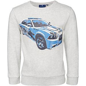 TOM TAILOR Mini Boys - sweatshirt with police car Sweat-Shirt mit Auto-Print für Jungen (unifarben mit Print, langärmlig mit Rundhals-Ausschnitt) aus Baumwolle,