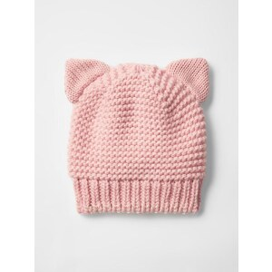 Gap Cat Metallic Knit Beanie - Icy pink
