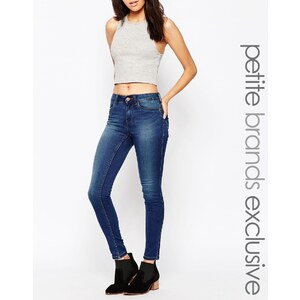 Noisy May Petite - Lucy - Superschmale Jeans - Blau