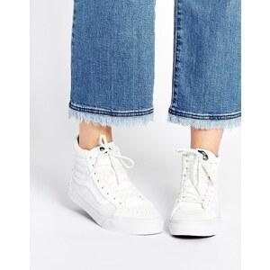 Vans - SK8-Hi - Hochgeschnittene perforierte Sneakers, weiß - Weiß