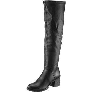 Tamaris Overknee-Stiefel, Tamaris, schwarz, Mit Stretch -Funktion für mehr Passform