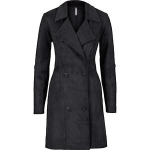 RAINBOW Manteau imitation cuir velours noir manches longues femme - bonprix