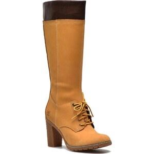 Timberland - Glancy Tall Lace with Side Zip Boot - Stiefel für Damen / beige