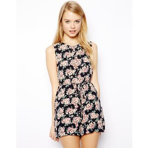 ASOS Shift Playsuit in Floral Print