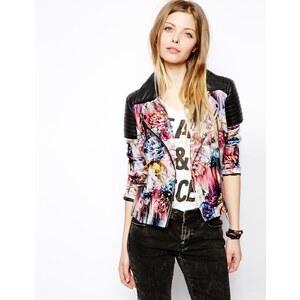 ASOS Floral Print Biker Jacket
