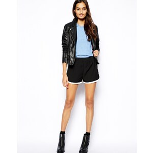 Glamorous Running Shorts with Contrast Dolphin Hem