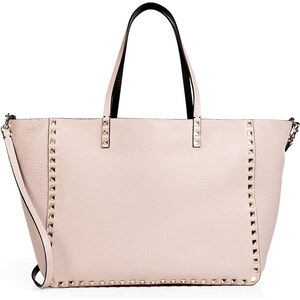 Valentino Leather Reversible Rockstud Tote with Shoulder Strap