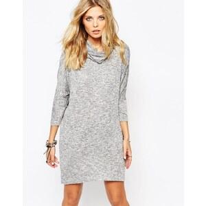 Noisy May - Karna - Kleid mit Stehkragen - Grau