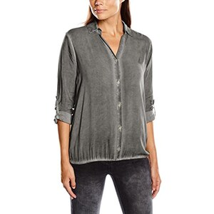TOM TAILOR Damen Regular Fit Bluse casual dyed blouse/508