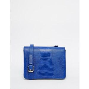 Glamorous - Kleine Umhängetasche in Krokoleder-Optik - Blau