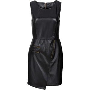 RAINBOW Lederimitat-Kleid ohne Ärmel in schwarz von bonprix