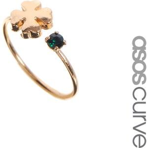ASOS CURVE Good Luck Pinky Ring