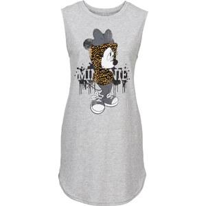 RAINBOW Mini Shirtkleid Minnie kurzer Arm in grau von bonprix