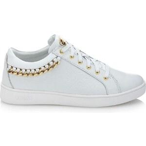 Guess Gloriana 4G - Sneakers en cuir - blanc