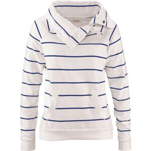 John Baner JEANSWEAR Sweat-shirt avec boutons blanc manches longues femme - bonprix