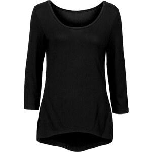 BODYFLIRT T-shirt manches 3/4 noir femme - bonprix